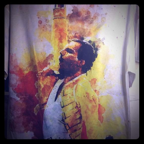 Queen Freddie Mercury watercolor t shirt